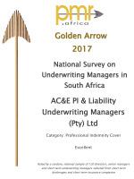 PMR Gold Award 2017<br/>PI Cover