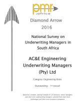 PMR Diamond Award 2016<br/>Engineering Risks