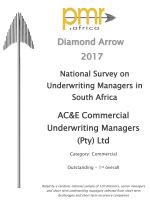 PMR Diamond Award 2017<br/>Commercial