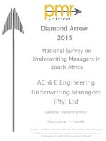 PMR Diamond Award 2015