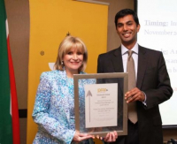 Anne-Marie Fourie, Managing Director of AC&E and Kalim Rajab of New National Assurance Company